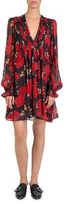 The Kooples Sleeping Roses Printed A-Line Dress