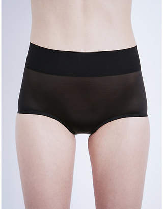 Wolford Sheer touch high-rise control briefs