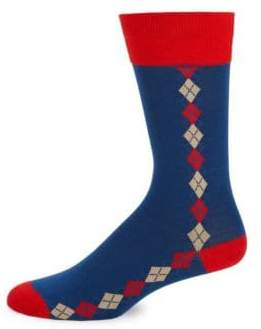 Bruno Magli Argyle Accented Socks