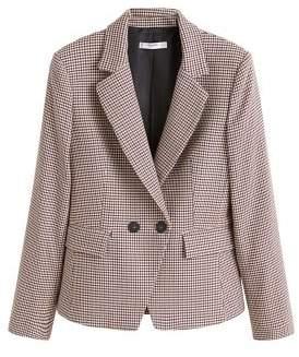 MANGO Houndstooth suit blazer
