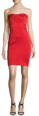 ZAC Zac Posen Strapless Twist-Front Cocktail Dress, Cardinal $675 thestylecure.com