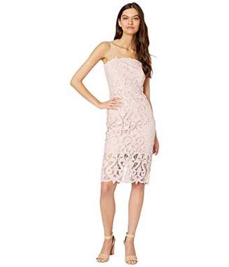 Bardot Women's All Over lace Scalloped Hem Adjustable Think Straps Party Dress
