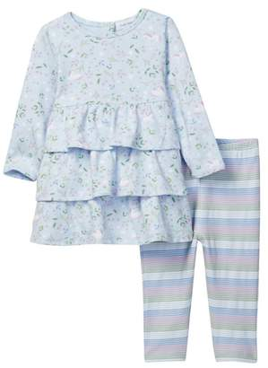 Angel Dear Unicorn Foliage Dress & Legging 2-Piece Set (Baby & Toddler Girls)