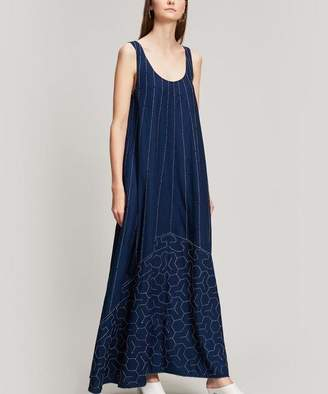 Elizabeth and James Oasis Embroidered Cotton Maxi Dress