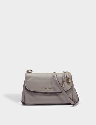 Marc Jacobs Boho Grind Crossbody Bag in Stone Grey Cow Leather