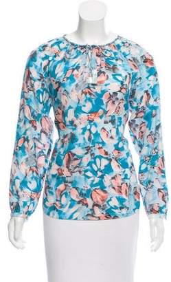 Rebecca Taylor Printed Long Sleeve Top