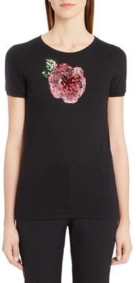 Women's Dolce&gabbana Sequin Cotton Tee $695 thestylecure.com