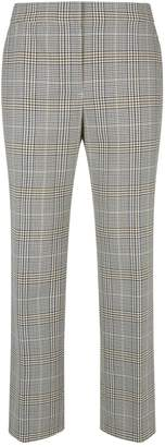 Elie Tahari Leena Houndstooth Check Cropped Trousers