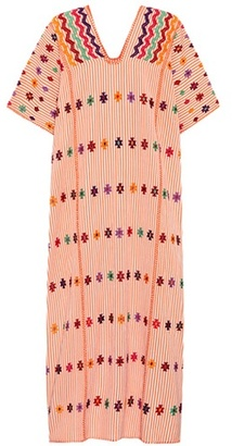 Pippa Holt Kaftan No. 23 embroidered cotton dress