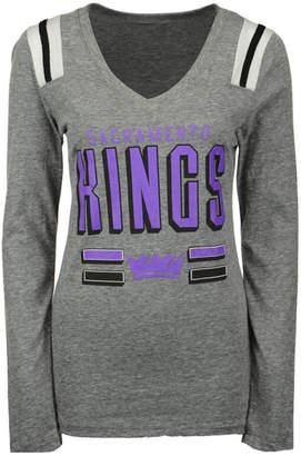 5th & Ocean Women's Sacramento Kings Free Kick Long-Sleeve T-Shirt