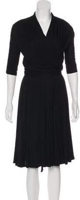 Costello Tagliapietra Three-Quarter Sleeve Midi Dress