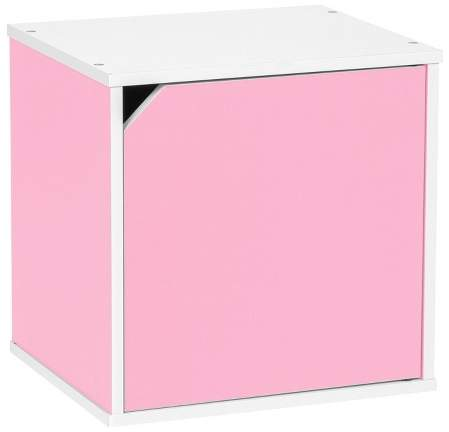 Baku Wood Storage Cube Box with Door - Pink