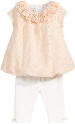Marmellata 2-Pc. Lace Tunic & Capri Leggings Set, Baby Girls