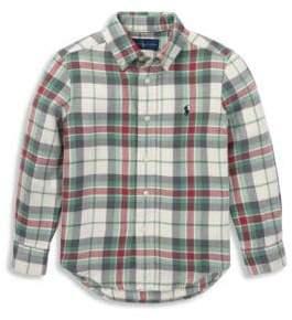 Ralph Lauren Boy's Plaid Cotton Button-Down Shirt