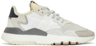 adidas White and Black Nite Jogger Sneakers