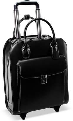 McKlein Uptown Leather Wheeled Laptop Briefcase