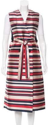 Tome Striped Trench Vest w/ Tags