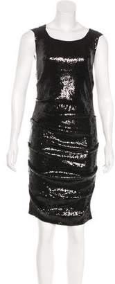 Nicole Miller Sequined Knee-Length Dress