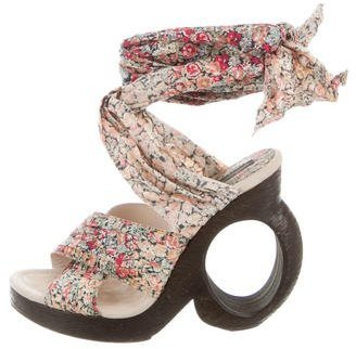 Louis Vuitton Floral Crossover Sandals