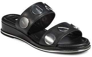 DKNY Cassie Studded Leather Slides