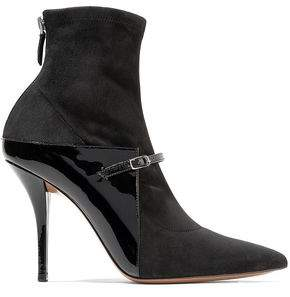 Givenchy Suede And Patent-leather Sock Boots