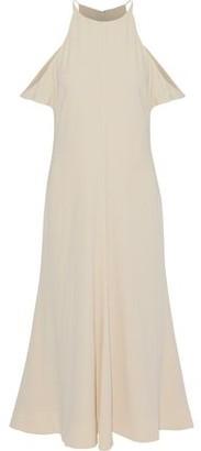 Elizabeth and James Cold-Shoulder Crepe De Chine Midi Dress