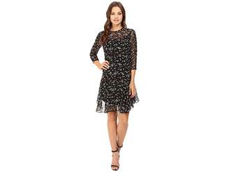 Donna Morgan 3/4 Sleeve A-Line Dress Women's Dress