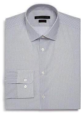 Micro-Diamond Slim Fit Dress Shirt