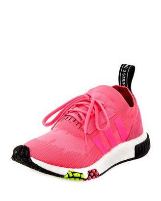 adidas NMD_Racer Primeknit Trainer Sneakers, Solar Pink