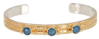 Anna Beck 18K Gold Plated Blue Quartz Multi-Stone Bracelet