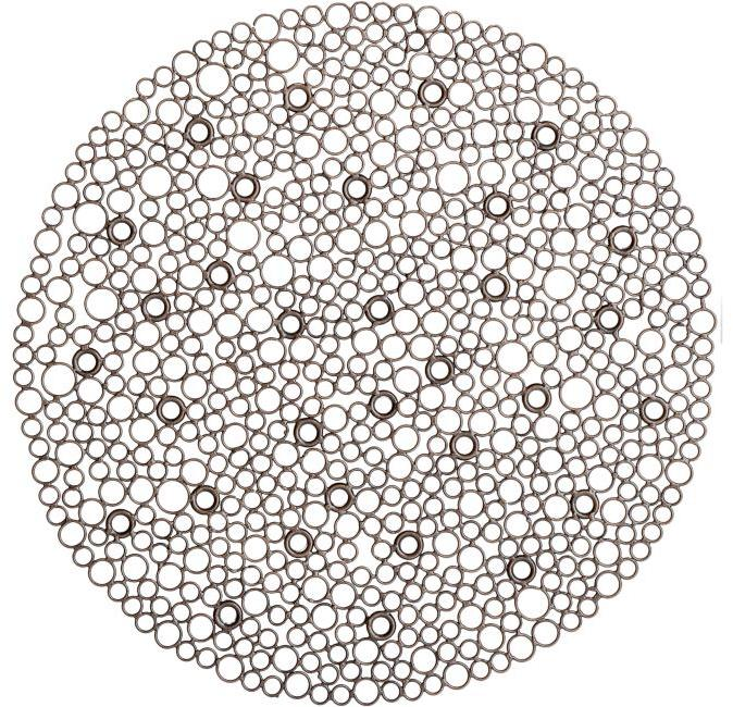 Metal Circles Placemat