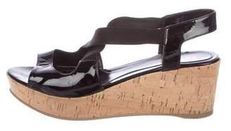 Fendi Patent Leather Flatform Sandals