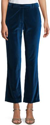Etro Flared-Leg Velvet Ankle Pants