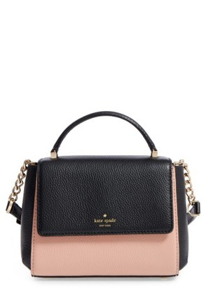 Kate Spade New York Young Lane - Shirley Leather Satchel - Blue $298 thestylecure.com