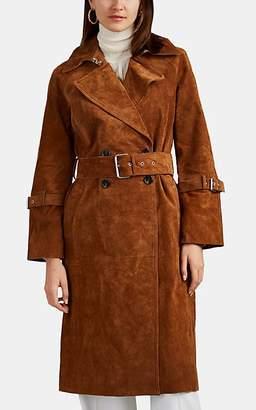 AVEC LES FILLES Women's Suede Trench Coat