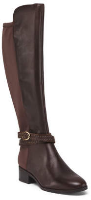 Leather Stretch Back High Shaft Boots