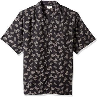 Haggar Men's Big and Tall Big&Tall Short Sleeve Texture Printed Shirts,Large