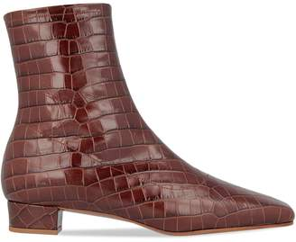 BY FAR Este Nutella Embossed Leather Booties