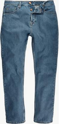 River Island Mens Light wash high waisted slim jeans