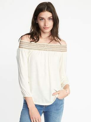 Old Navy Smocked Off-the-Shoulder Swing Top for Women