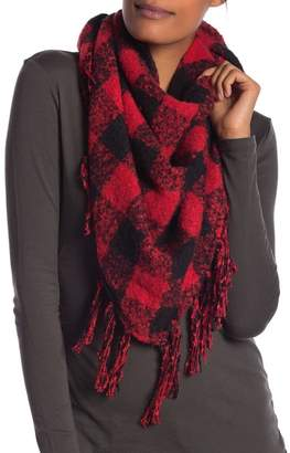 Collection XIIX Buffalo Plaid Triangle Boucle Scarf