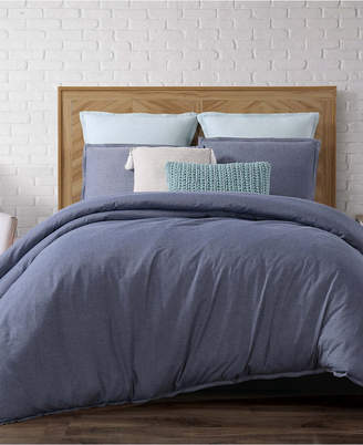 Pem America Brooklyn Loom Chambray Loft King 3 Piece Duvet Cover Set Bedding