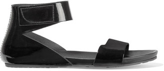 Pedro Garcia - Joline Patent-leather Sandals - Black $430 thestylecure.com