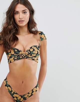 MONTCE Montce Cabana Embroidered Bikini Top