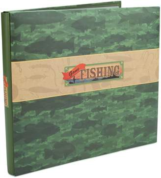 Scrapbook Karen Foster Design Gone Fishing Themed Album with Page Protectors