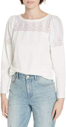 Rebecca Taylor Embroidered Cotton Top