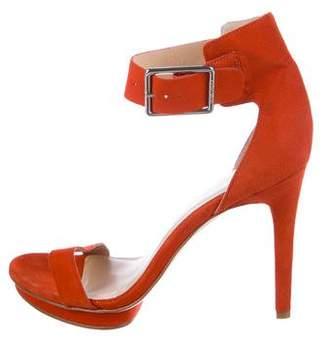 Calvin Klein Suede Ankle Strap Sandals