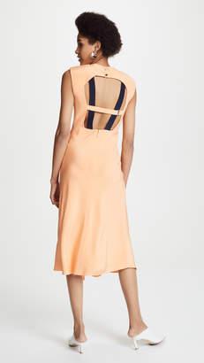 Tibi Open Back Bias Dress