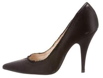 Pedro Garcia Satin Raw-Edge Pumps