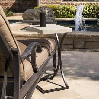 Southern Enterprises Awolly Indoor/Outdoor C Table, Cement Gray